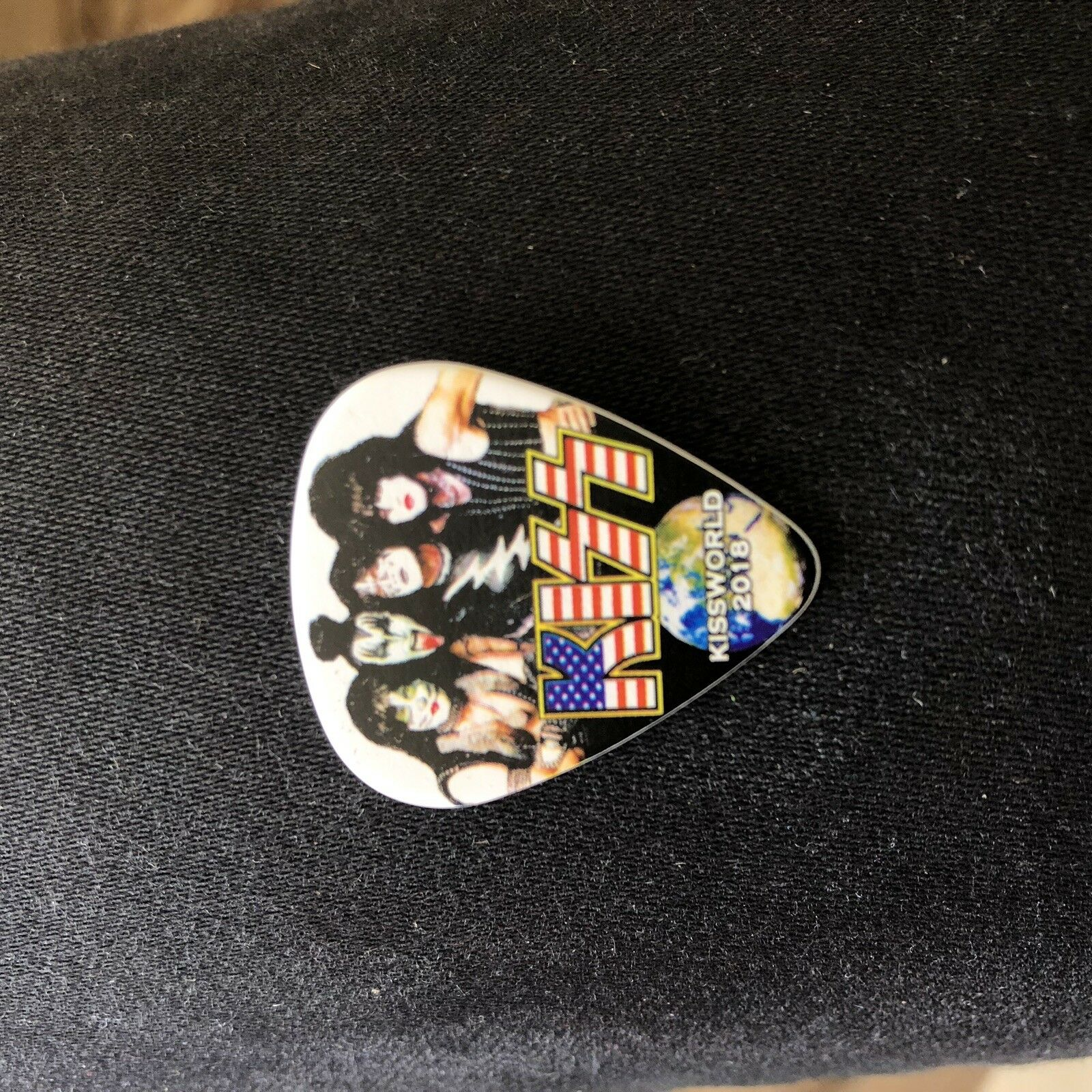 s l1600 - KISS Ace Frehley Guitar Pick - NJ 2018 Expo Signed Autograph Spaceman 12/7 Rare