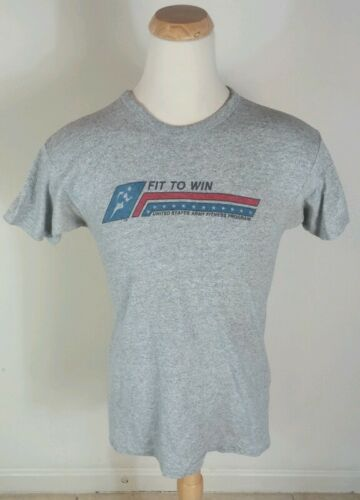 Rare Vintage 80s Rayon Tri Blend Army Fitness Program T Shirt US