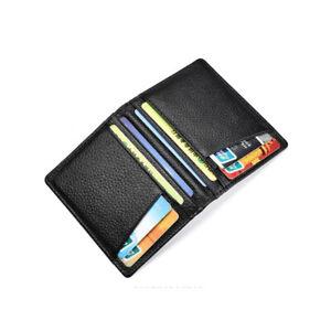 Luxury-Men-039-s-Genuine-Leather-Thin-Wallet-Credit-Card-ID-Holder-Purse-Mini-Wallet