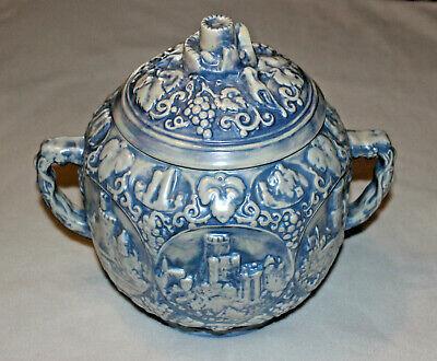 Cookie Jar Light Blue Opalescence Greek