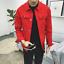 Men-Casual-Retro-Denim-Jean-Jacket-Spring-Loose-Nightclub-Bar-Coat-Outwear-New thumbnail 8