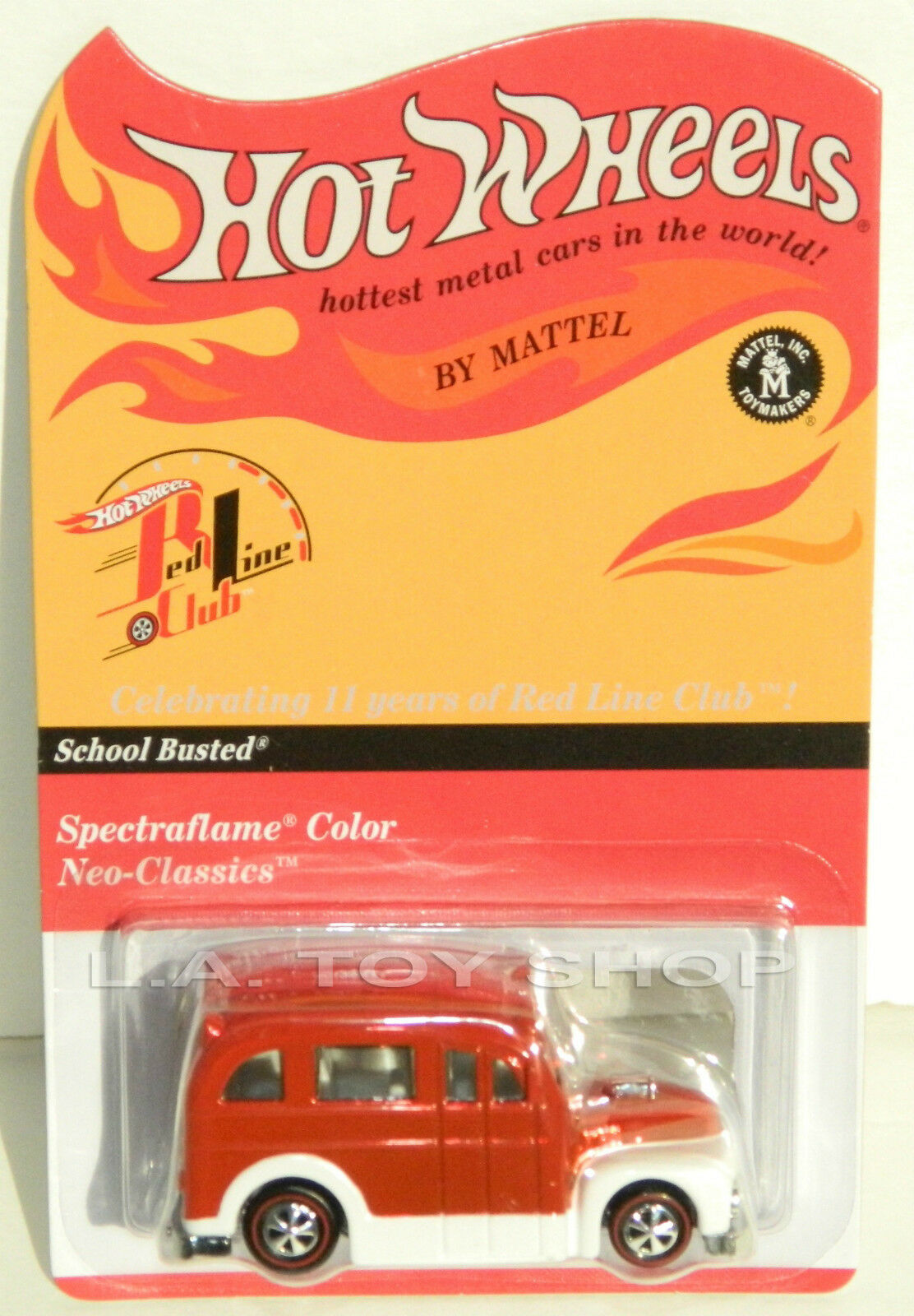 Hot Wheels 2012 RLC inscription école Busted Bus Rare Members Only