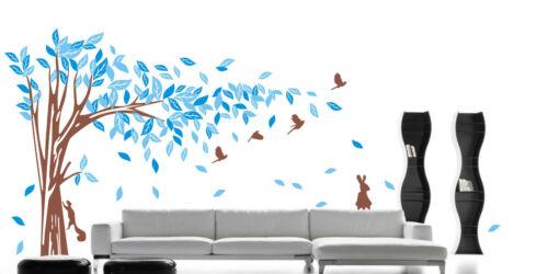 Jungle Tree Animals Removable Wall Art Stickers Kids Nursery Vinyl Decals Decor
