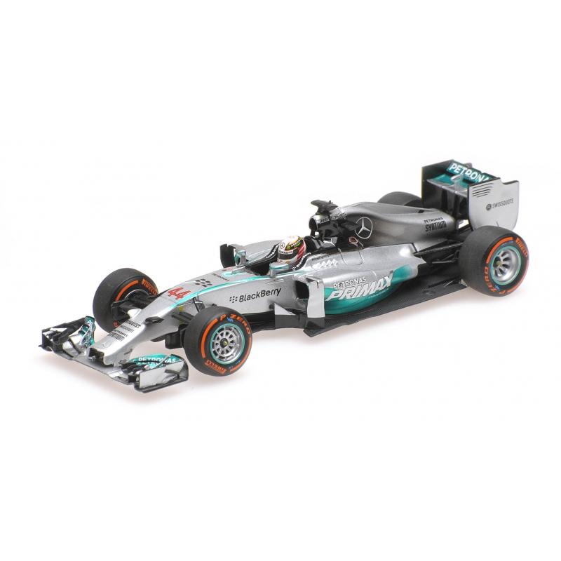 Minichamps 410140144 MERCEDES AMG W05 Lewis Hamilton Malaysian Gp 2014