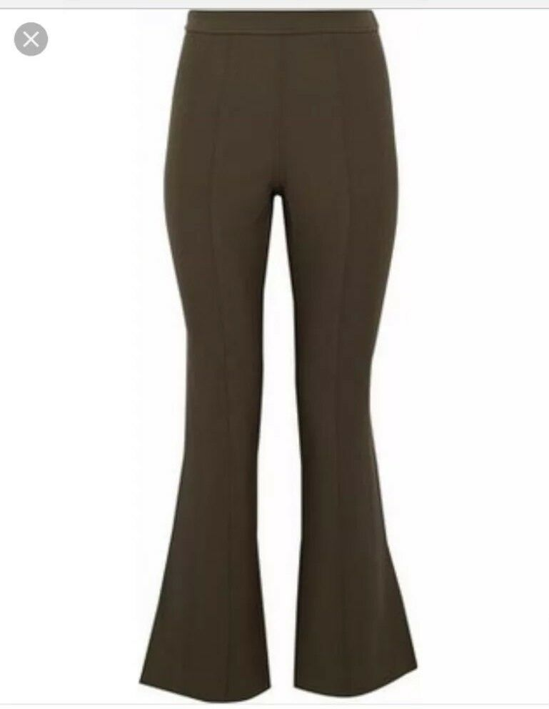 Cing A Sept Olive 2 Stretch-ponte flared pants