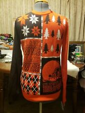 5c3136b4470 Cleveland Browns NFL Football 2014 Logo Ugly Christmas Sweater M Block  Style NWT