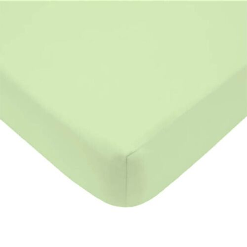 nEw 1pc COTTON CRIB FITTED SHEET Jersey Knit Solid Pastel Baby Toddler Bedding