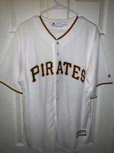 Pittsburgh Pirates MLB Mens Jersey Majestic Size S White/Yellow/Black