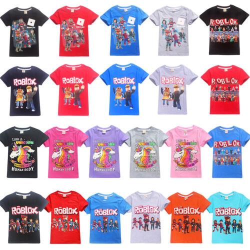 Roblox Boys Girl/'s Short Sleeve 100/% Cotton T-Shirts Tops tshirts Clothes