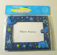 Rubber Photo Frame (moon, Stars & Butterfly) 8x6 Hold 4x6 Photo