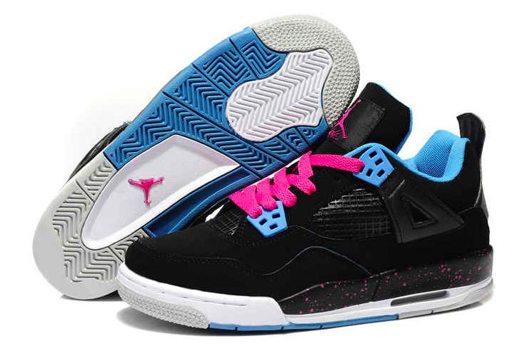 Nike Air Jordan 4 retro 487724-019 Gr 40 Us 7 Uk 6 Neu Dynamic Bleu blanc Pink