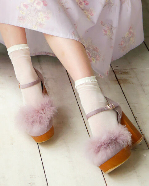 LIZ LISA - Feather Pumps  ( japan kawaii sweet fashion )
