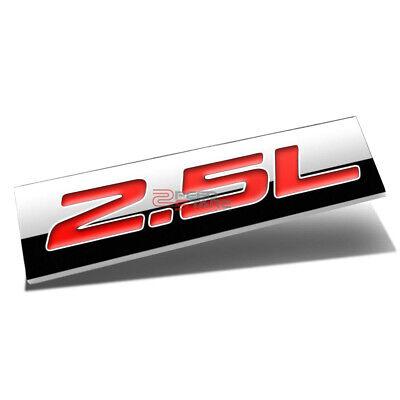 3M TAPE ON AUTO BODY METAL EMBLEM LOGO TRIM BADGE POLISHED CHROME RED 2.5L 2.5 L