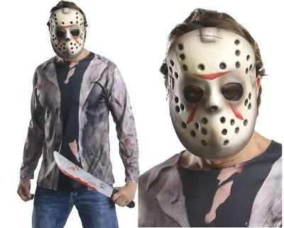 Halloween Costume Jason Friday 13th.Adult Jason Voorhees Friday 13th Fancy Dress Horror Evil Kit Halloween Costume Ebay