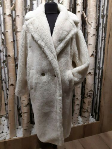 MAX MARA TEDDY BEAR ICONIC COAT S WHITE