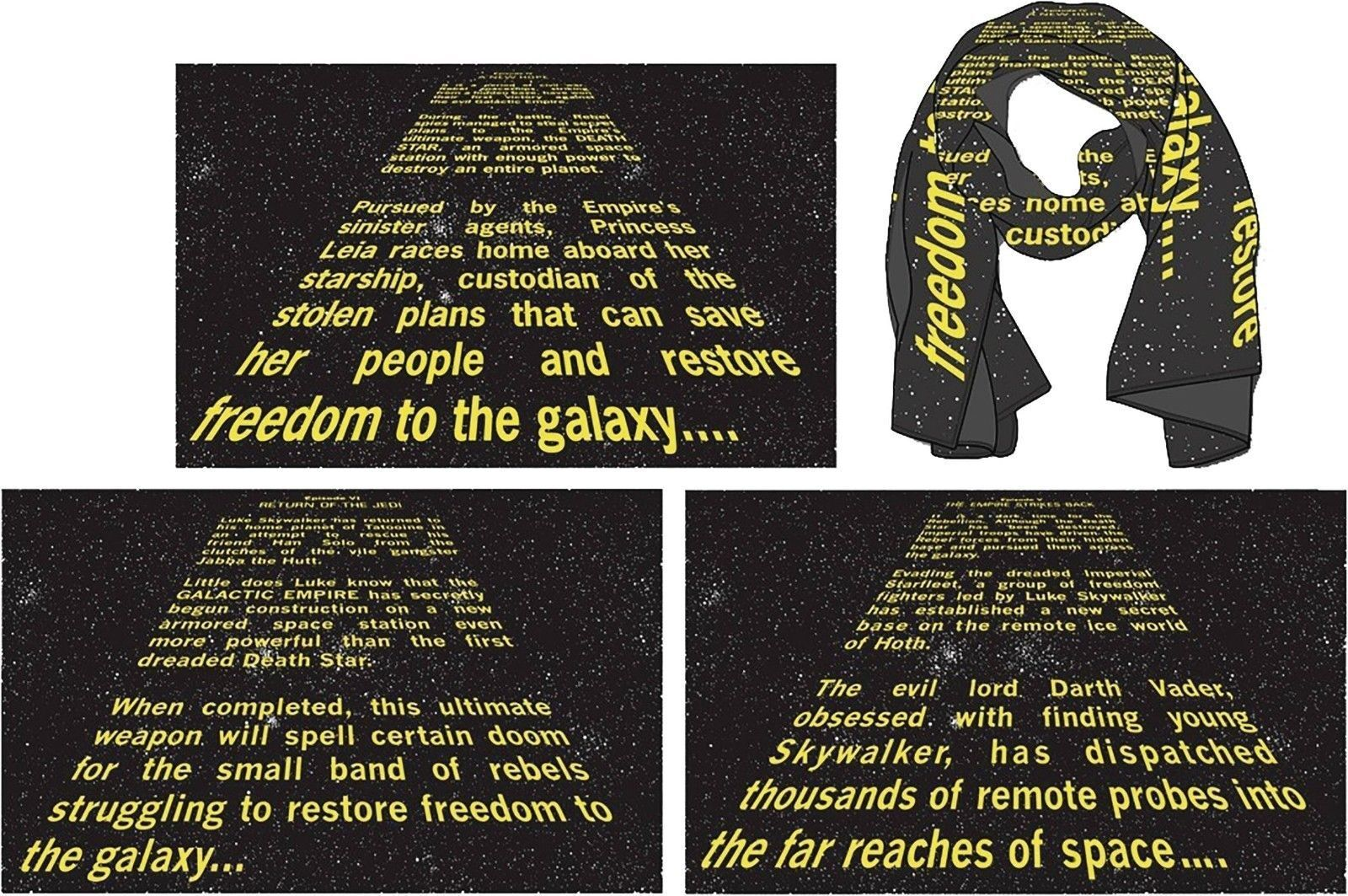Star Wars Opening Crawl Wrap A Hope Gold Plated Leather Love And Madness For Sale Online Ebay