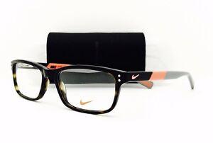 ba0432ad1a New Nike Eyeglasses 7237 215 Tortoise Total Orange 52•17•140 With ...