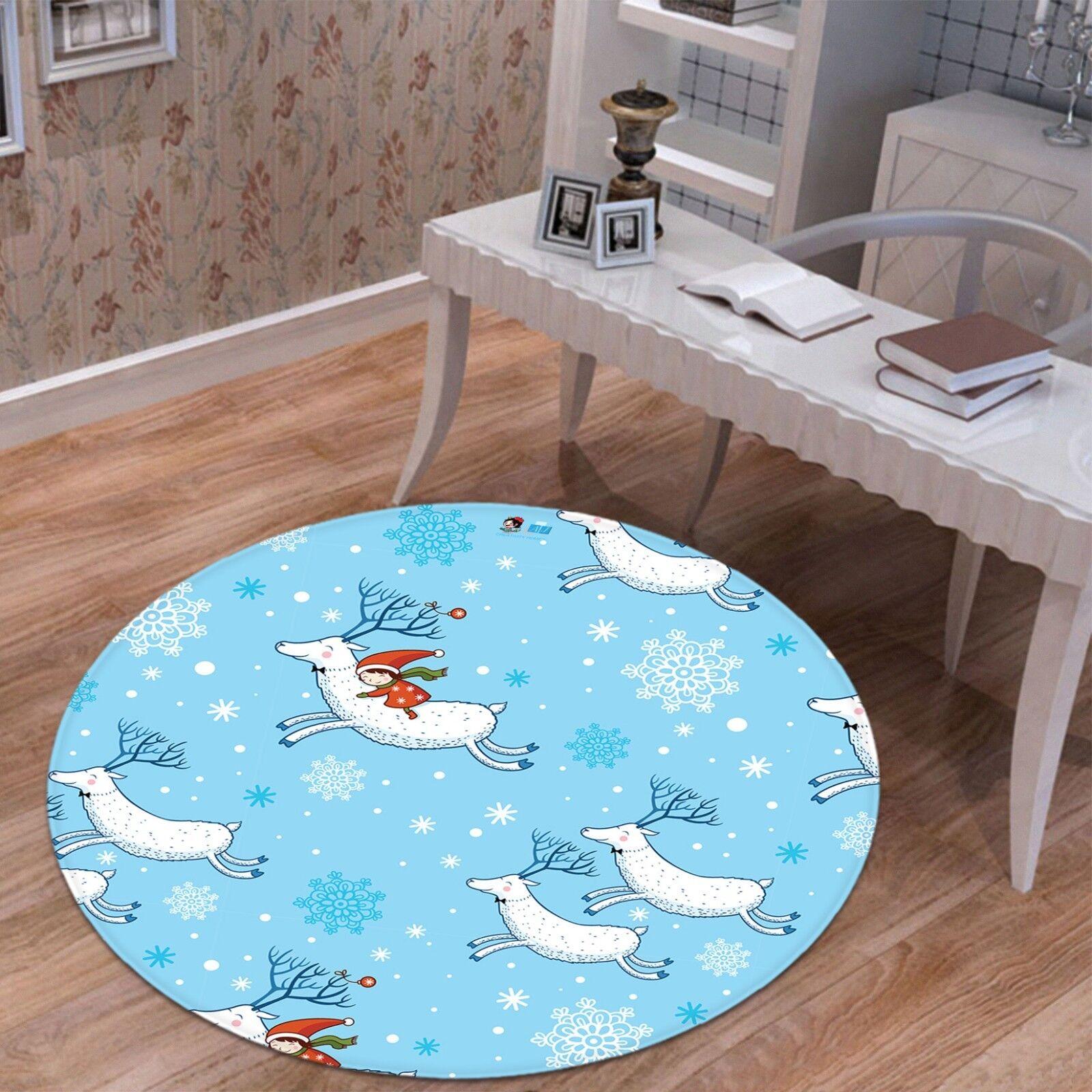 3d Natale Xmas 655 antiscivolo tappeto tappetino vano giri elegante TAPPETO de
