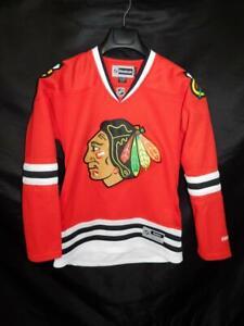 Chicago-Blackhawks-S-Womens-Red-Hockey-Jersey-Reebok-NHL-Shirt-Stitched-Small