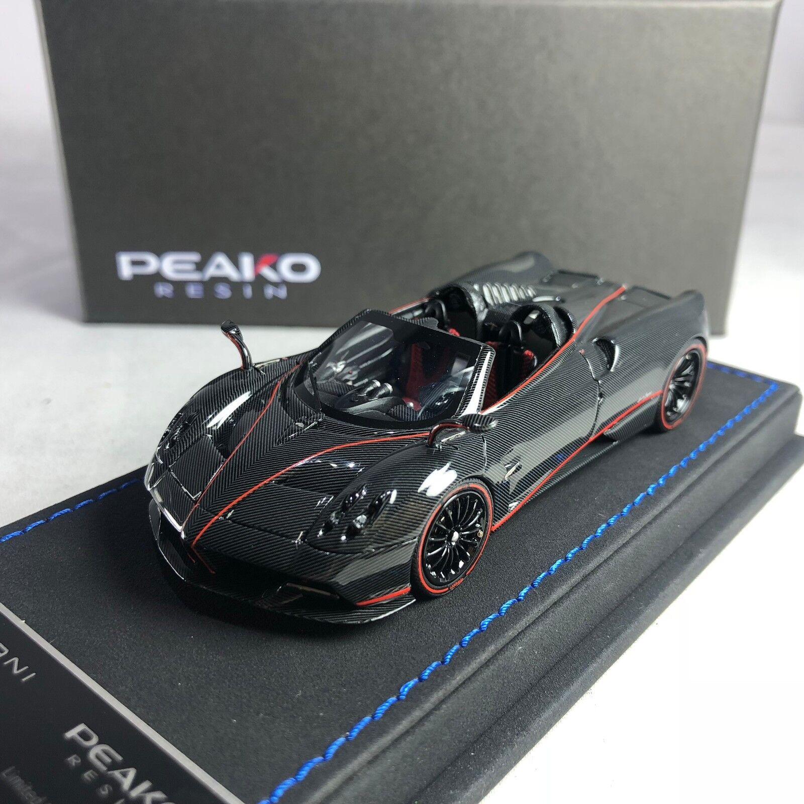 1 43 Peako Pagani Huayra Roadster Full Carbon with rojo Stripes Ltd 50 pcs 31117