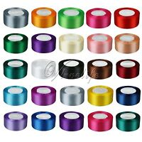 """1 Roll 25 Yards Satin Ribbon Craft 1.5"""" 38mm Wide Bow Wedding Party Supply"""