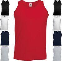 FRUIT OF THE LOOM Herren Tank Top Athletic Vest ärmellos T-Shirt-S M L XL XXL