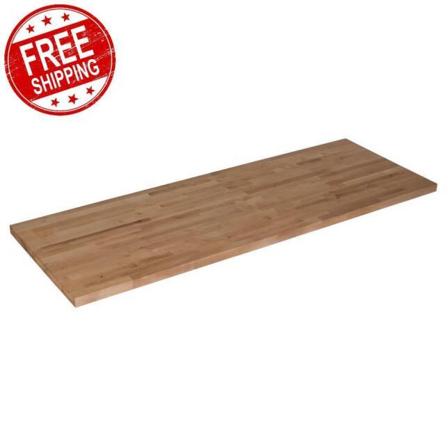 Butcher Block 96 In Solid Wood Countertop Cherry Kitchen Counter For Sale Online Ebay
