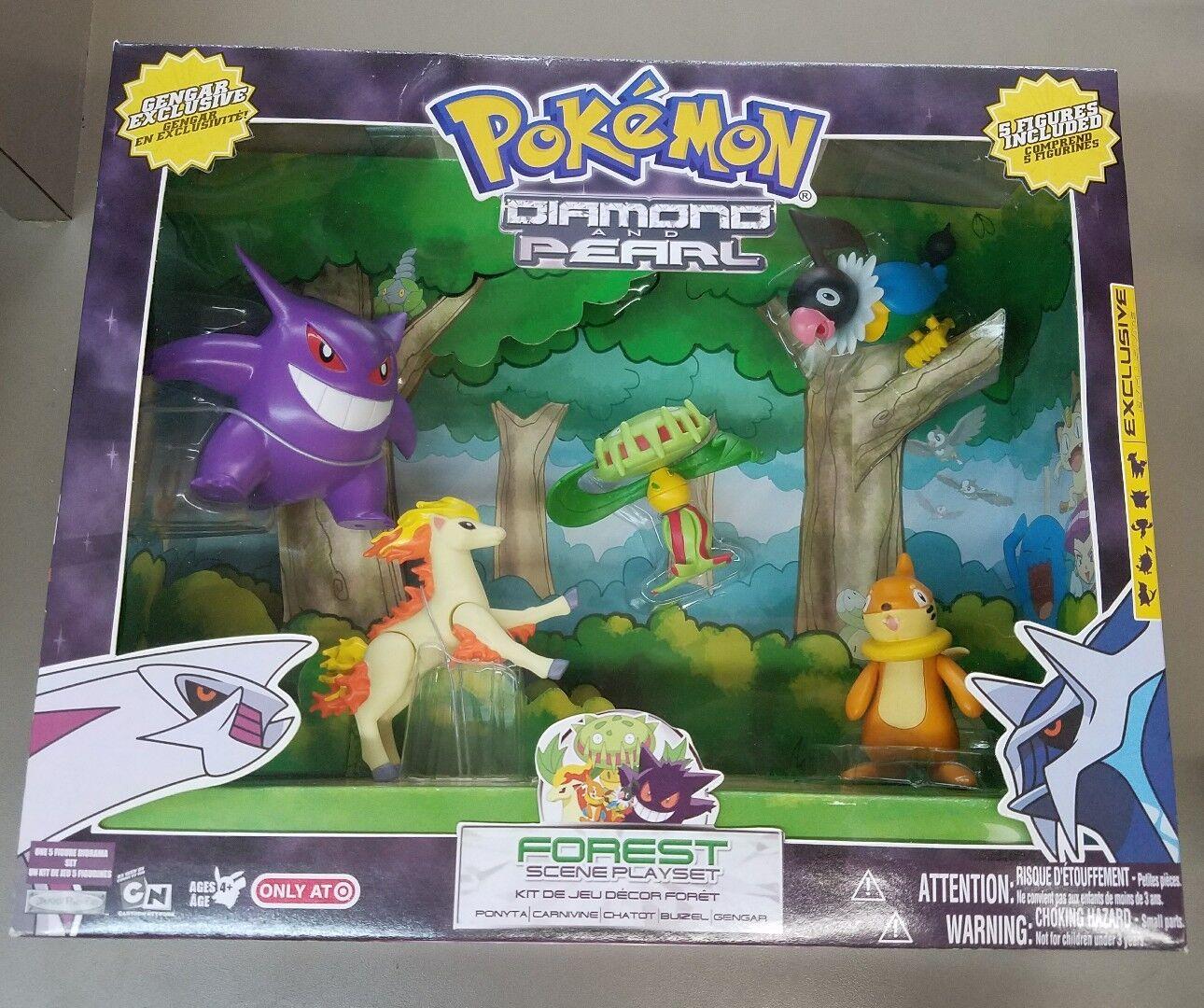 Pokemon Pokemon Pokemon Diamond and Pearl Forest Scene Playset  2007 JAKKS Target exclusive 25ebf1