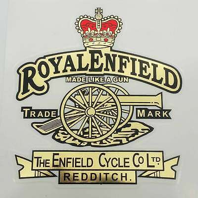Royal Enfield Cannon Logo Made Like a Gun Tool Box Decal Sticker 2 Unit