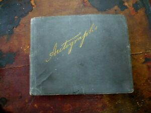 1907-Vintage-old-Autograph-book-Old-Trafford-signatures-poems-drawings-pre-WW1