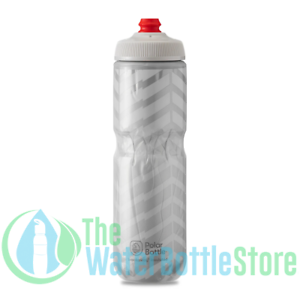 Details about  /Polar 24 oz Breakaway® Insulated Triple Wall Cycling Water Bottle Bolt White New