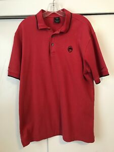 fa5ce1872bd87 Details about Vintage Nike Golf Polo Shirt Deschutes Brewery Red Mens Size  Large Short Sleeve