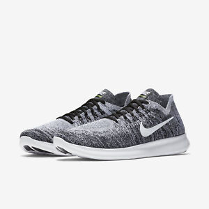 28e8dfc9f180 NEW Nike Free RN Flyknit 2017 Shoes 880843 003 Black White Oreo ...