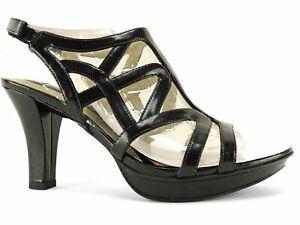 0cd0b247e56f Naturalizer Women s Danya Dress Sandals Black Smooth Strappy Caged ...