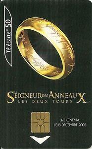 carte telephonique collection cote RARE / CARTE TELEPHONIQUE   LE SEIGNEUR DES ANNEAUX : LES DEUX