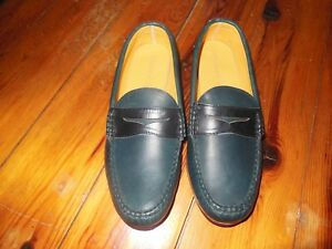 Quoddy Sewn in Maine Men's Navy Penny Loafer, Leather ...