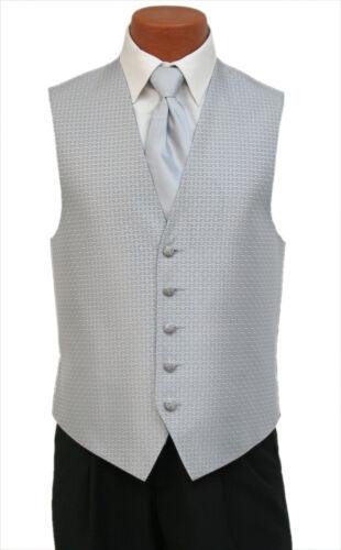 Medium Mens Light Silver Rapture Fullback Wedding Prom Formal Tuxedo Vest