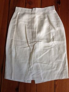 Vintage-Brooks-Brothers-Cream-White-Linen-Rayon-Blend-Straight-Pencil-Skirt-6