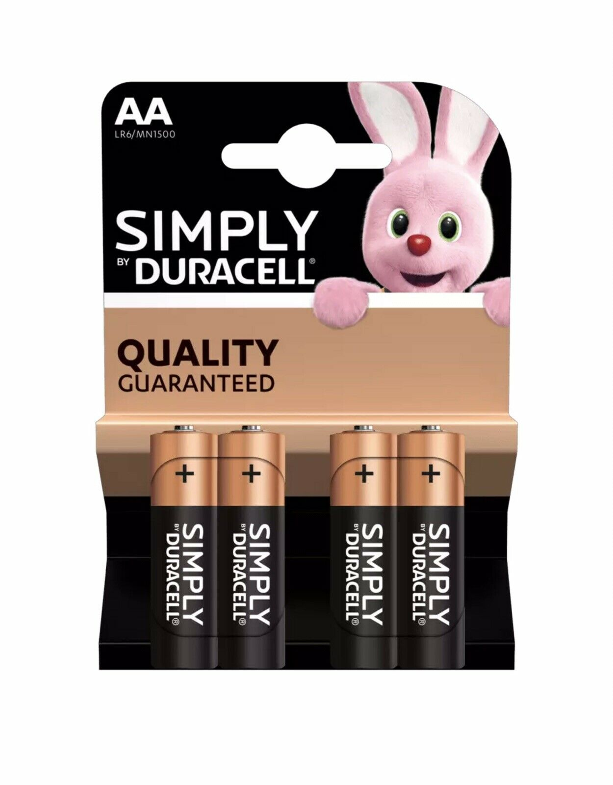 Duracell AA Battery Long Lasting Pack Of 4 Alkaline Batteries
