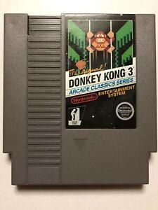 Donkey Kong 3 Arcade Classics Series (Nintendo NES) Authentic & Tested