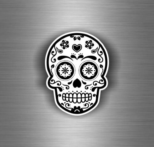 Sticker decal motorcycle car tuning jdm skull sugar laptop macbook biker r1