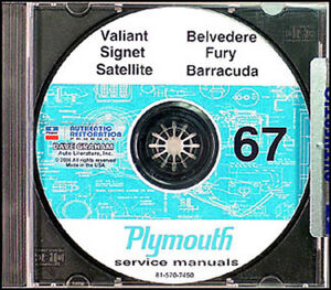 Incredible 1967 Plymouth Shop Manual Cd Rom Valiant Fury Gtx Satellite Wiring Database Gramgelartorg