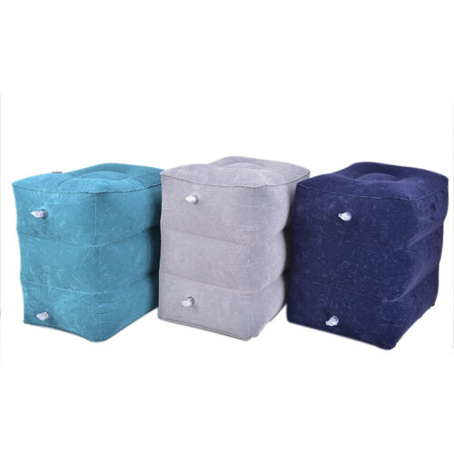 Useful Inflatable Portable Travel Footrest Pillow Plane Train Kids Bed Foot R/_vi