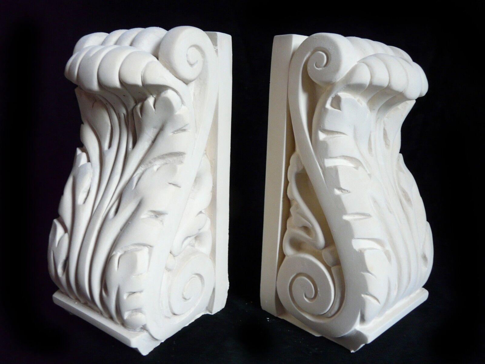 William Morris Hoja Sujetalibros 17cm De Mano Hecho Yeso Sujetalibros Figuras Nuevo