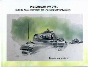 WW-2-Abwehrschlacht-Orel-Fotos-Aquarelle-Kriegs-Berichte-Winter-42-43-Fotobuch