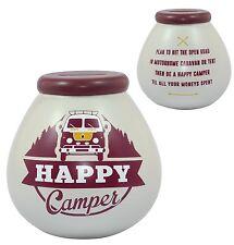 Pot Of Dreams Happy Camper Money Box Piggy Bank Birthday Saving Gift VW Camper