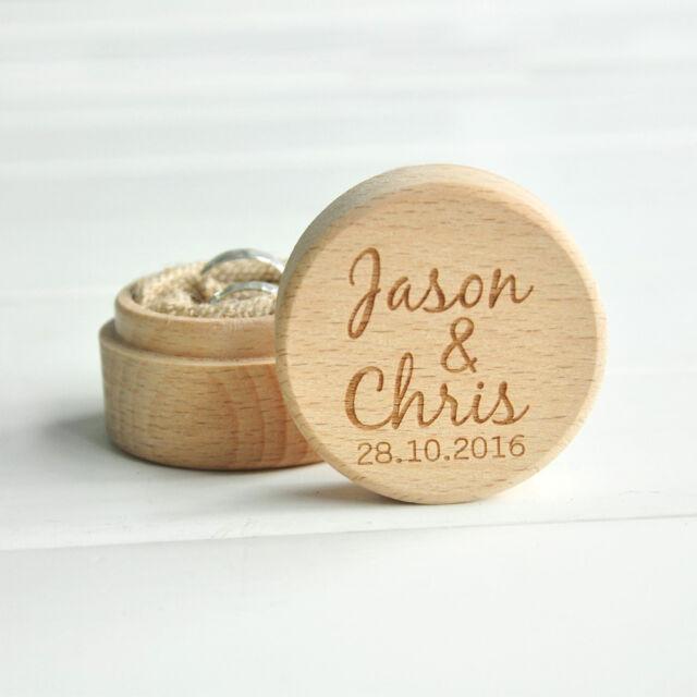 Personalized Rustic Ring Bearer Box , Wooden Wedding Ring Box Bearer Pillow Box
