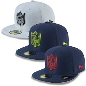 New-Era-Cappello-59fifty-NFL-League-Logo-Fit-Seattle-Seahawks-Patriots-Raiders