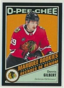 2019-20-O-Pee-Chee-Retro-Rookie-BLACK-529-Dennis-Gilbert-100-Chicago-Blackhawks