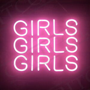 three girls home room artwork lamp beer bar decor poster neon light sign ebay. Black Bedroom Furniture Sets. Home Design Ideas